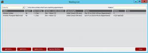Audit4 Appointment Waiting List